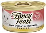 Fancy Feast Gourmet Cat Food, Flaked Salmon and Ocean Whitefish Feast, 3-Ounce Cans (Pack of 24), My Pet Supplies