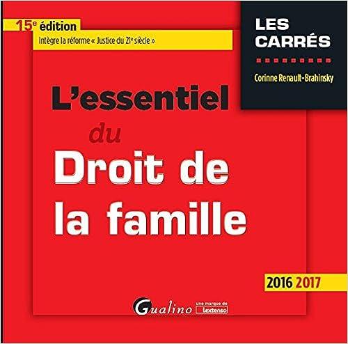 En ligne téléchargement gratuit L'essentiel du droit de la famille 2016-2017 pdf epub
