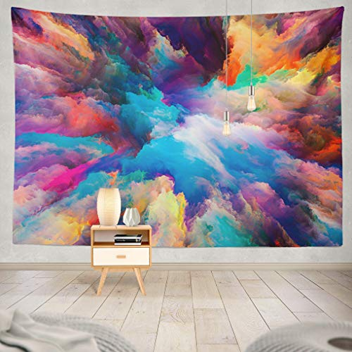 Artistic Tapestry - Summor Tapestry Color Splash Series Fractal Paint Rich Hanging Tapestries 60 x 80 inch Wall Hanging Decor Bedroom Livingroom Dorm