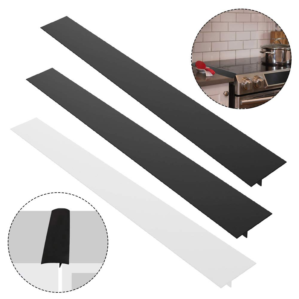 3 Pack 25'' Silicone Kitchen Stove Counter Gap Filler Cover, AIFUDA Heat-Resistant Spill Guard Seals for Kitchen Cooker Work Surface, Stovetop, Oven, Washer, Dryer
