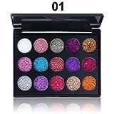 Pinsparkle Shimmer Matte Makeup Cosmetics Waterproof Sequin Eyeshadow Palette