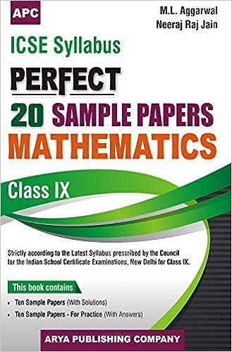 Amazon in: Buy ICSE Perfect 20 Sample Papers Mathematics