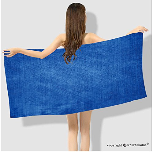 VROSELV Cotton Microfiber Bathroom  Bath Towel-blue background with some soft shades and highlights Custom pattern of household products Custom pattern of household - Shades Charleston Hats Of