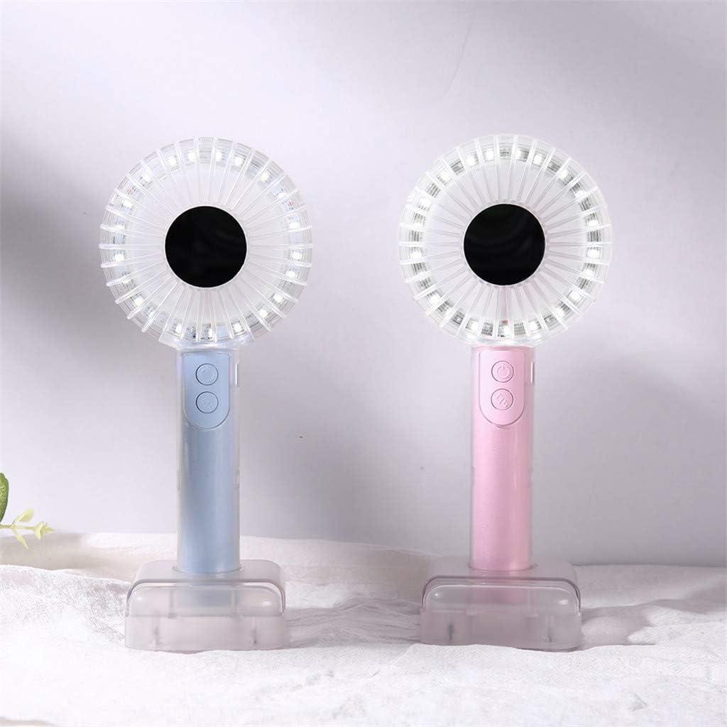 ResidentD Summer Mini Handheld USB Fan,3 Speed Wind Personal Portable Desk Stroller Table Fan Cooling Electric Fan Pink