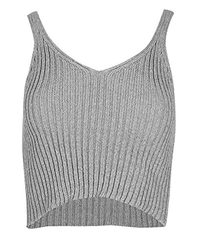 One Women's Tank Silver Top Gold 21fashion Sleeveless Size wUxqXZq