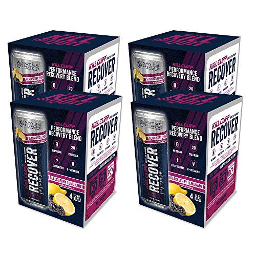 Kill Cliff BlackBerry Lemonade Recovery & Hydration Drink 16-12 oz Cans
