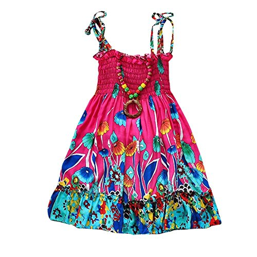 Little-Girls-Summer-Beach-Dress-with-Necklace-Rainbow-Sundresses