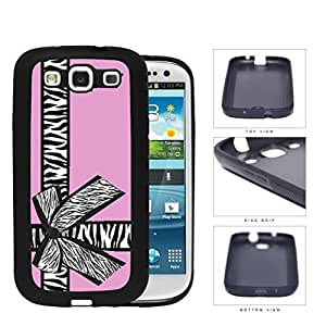 Zebra Bow Pink Gift Box Rubber Silicone TPU Cell Phone Case Samsung Galaxy S3 SIII I9300