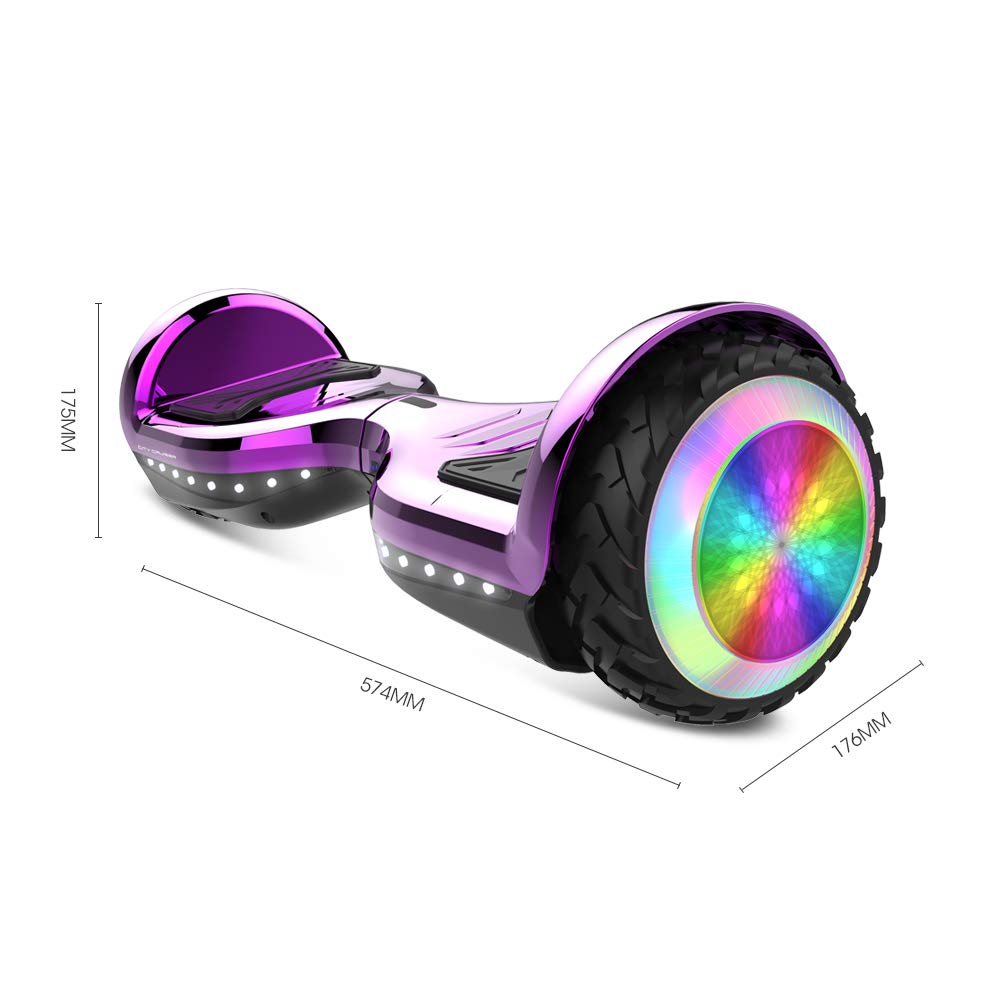 CITY CRUISER Hoverboard with Bluetooth Speaker, LED Light by UL 2272 Certified Best Gift for Kids Purple by CITY CRUISER (Image #8)