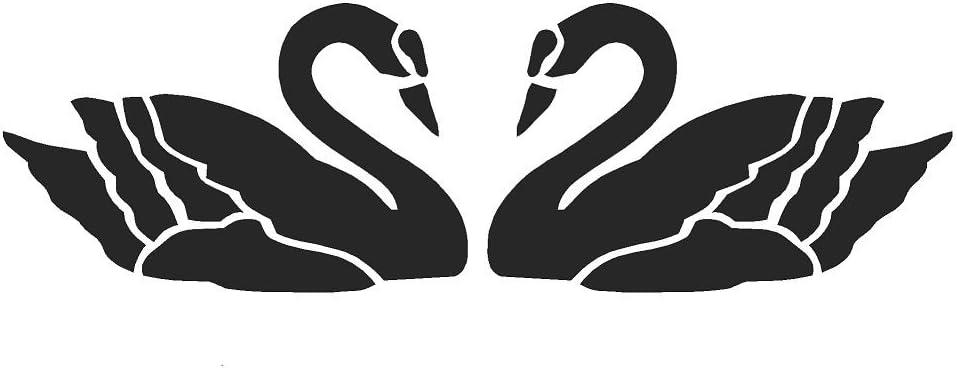 A4 MYLAR STENCILS CRAFTS TEMPLATES SCRAPBOOKING BIRDS SWANS 1 STENCIL