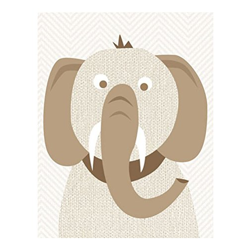 Oopsy Daisy Tusks and Trunks Canvas Art ()