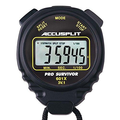 Accusplit Survivor Stopwatch - Accusplit Pro Survivor Stopwatch A601X - Black
