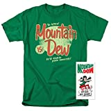diet mountain dew cans - Mountain Dew Retro Logo T Shirt & Exclusive Stickers (XX-Large)