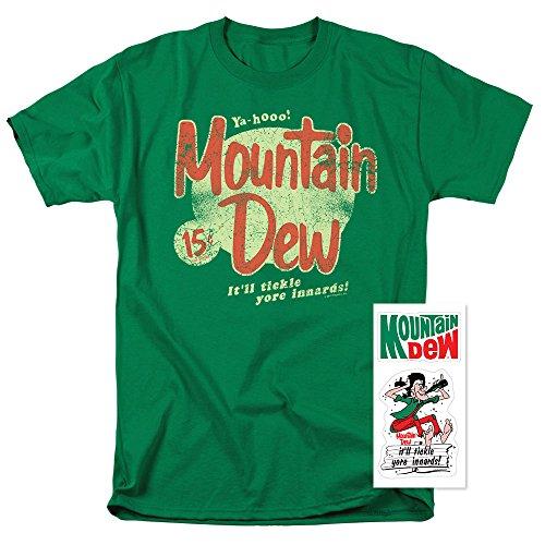 Mountain Dew Retro Logo T Shirt (X-Large)