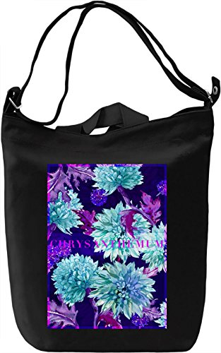 Chrysanthemum Borsa Giornaliera Canvas Canvas Day Bag| 100% Premium Cotton Canvas| DTG Printing|