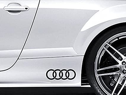 2 Audi Circles Logo Stickers,Graphics,Decals Colour Choice