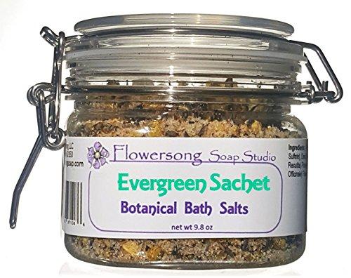 Flowersong Botanical Bath Salts, Evergreen Sachet Scent (Evergreen Salt)
