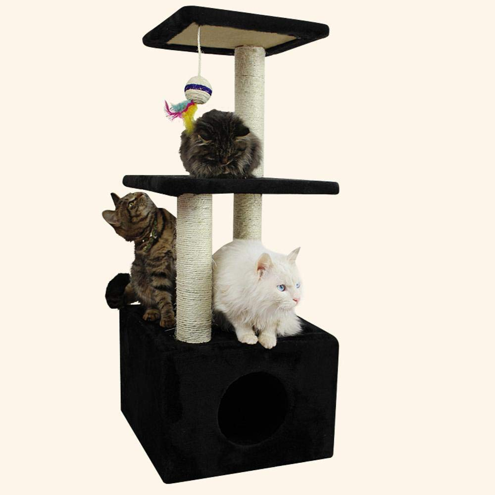Deluxe Multi Cat Tower cat Trees Towers Small Cute Fresh cat nest Multi-color Selection General Anesthesia Pillar 35  35  90cm particleboard + Velvet + sisal
