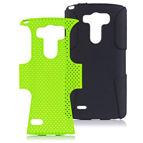 LG G3 | iCues 2 Caso Air Parte Verde | Caso duro al Air libre grueso a prueba de golpes militares Lifeproof hombres, niños piel protectora de protección [protector de pantalla, incluyendo] Cubierta Cu 2 Part Air Verde