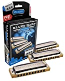ARMONICA BLUES - Hohner (Pro Pack Blues Harp) 3 Armonicas (Nota Do,Sol,La) (20 Voces) MS Series