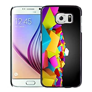 New Personalized Custom Designed For Samsung Galaxy S6 Phone Case For 3D Colored Cubes Phone Case Cover