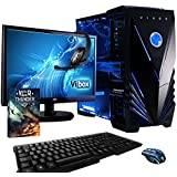 """Vibox Sniper Package 10  Gaming PC - with Warthunder Game Bundle, 21.5"""" HD Monitor, Gamer Headset, Keyboard & Mouse Set (4GHz Intel i7 Quad Core Processor, Nvidia Geforce GTX 970 Graphics Card, 120GB Solid State Drive, 1TB Hard Drive, 16GB RAM, Vibox Tactician Blue LED Case, No Operating System)"""