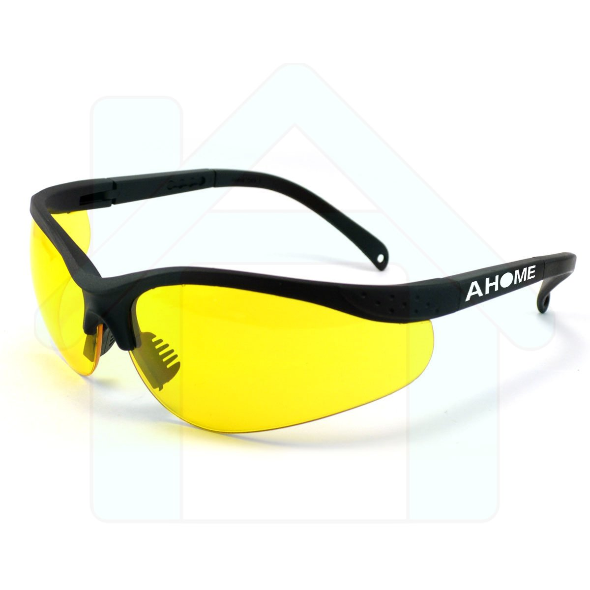 AHOME UV Ray Protection & Night Vision Improvement Adjustable Safety Glasses with Protective Carrying Case