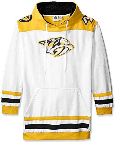 NHL Nashville Predators Men's Double Minor Fleece Hoodie, 4X, Gold