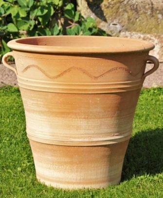 Salvia  Handgefertiger Terracotta Topf Pflanzgefäß aus Kreta, frostfest verschiedene Größen (50)