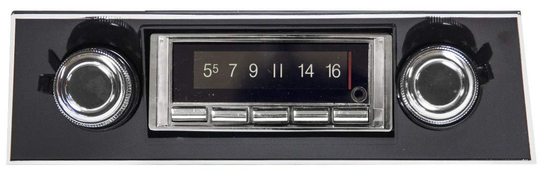Custom Autosound Bluetooth Stereo compatible with 1967-1968 Chevrolet Camaro BLACK Dash, USA-740 300 watt AM FM Car Stereo/Radio with built-in Bluetooth, AUX Inputs, Color Change LCD Digital Display