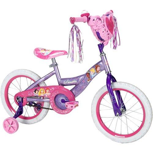 "Huffy 51973 16"" Disney Princess Girls' Bike with Heart Ba..."