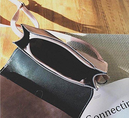 FZHLY Retro New Dame-Schulter-Diagonal-Kreuz-Paket Damen Ring Personality-kleine Tasche,Green