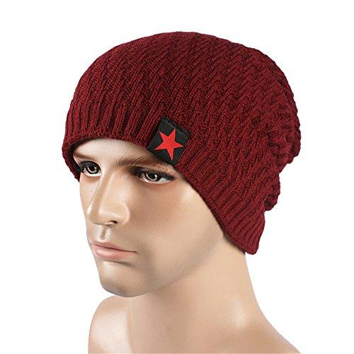 Cálida beanie gorra tejidos EXTERIOR Navidad Halloween Los tejidos caqui gorras espesamiento sombreros sombreros JuJube MASTER Red de hombres Invierno Otoño tapas sombreros Ta0tnPwWq