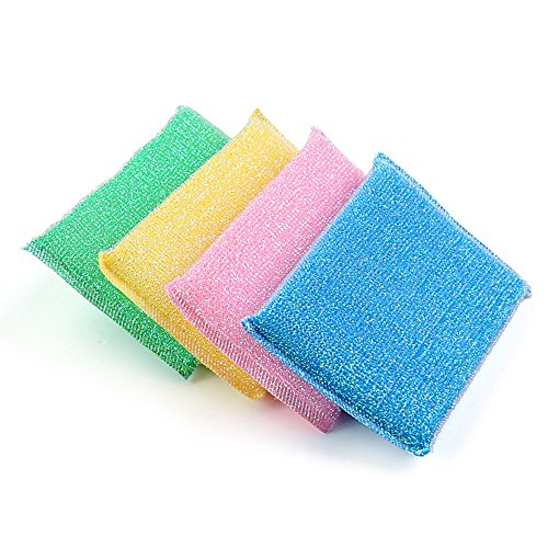 Best Cleaning Sponges,Gillberry Universal Sponge Brush Set Kitchen Tools Helper (Random 4PC)
