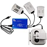 Rantow Intelligent Battery Charger Hub for DJI Phantom 4/Pro/Advanced Multi Rapid Charger, Charge 3 Batteries & Remote Controller