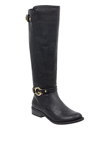 Amazoncom G By Guess Womens Hustle G Logo Buckle Riding Boots