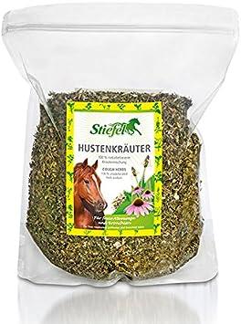 Hierbas para la tos con hierbas naturales seleccionadas de alta calidad para la tos y las molestias respiratorias en caballos, bolsa de 1 kg