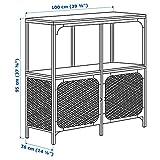 IKEA Fjällbo Shelf Unit, Black