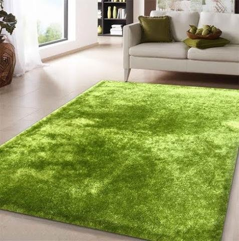 Chic Hand Tufted Rug - (5'x7') Chic Rug Lime Green Shag Area, Hand Tufted Weave, Vibrant Color Soft to The Touch Cotton Backing
