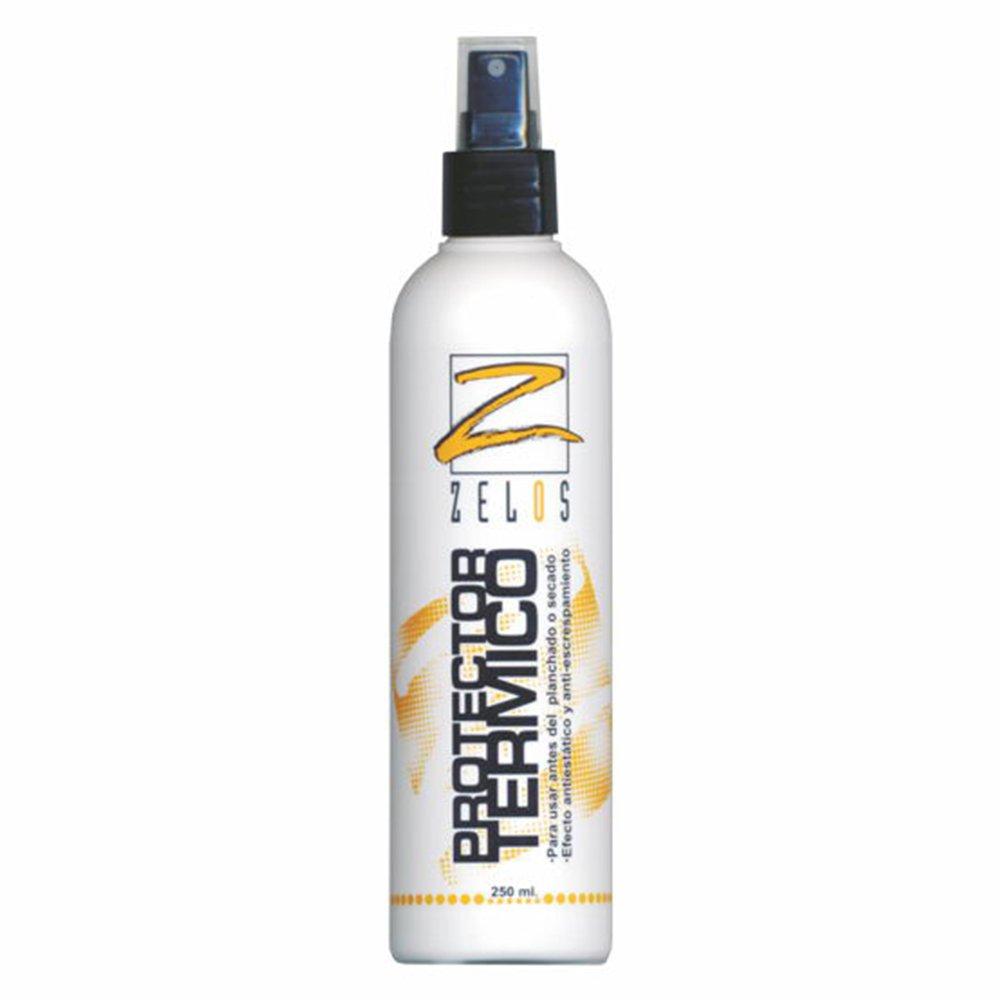 Protector Térmico Para Cabello - 250 ml - Spray protector del calor de plancha, tenacilla y secador - Evita el Encrespamiento y previene daños ZELOS