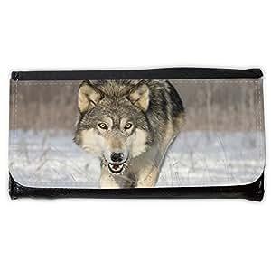 le portefeuille de grands luxe femmes avec beaucoup de compartiments // V00001720 Lobo de madera // Large Size Wallet