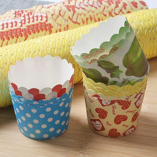 Tool Diy - 50pcs Cake Cup Round Cheesecake Mould Jelly Pudding Muffin Bread Cups Flat Bottom Mousse Kraft Paper - Paper Tool Tools Gift Bags Wrapping Supplies Cream Paper China -