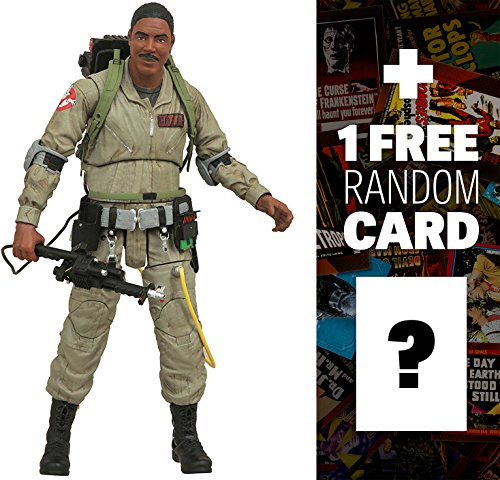 Winston Zeddemore: Diamond Select x Ghostbusters Action Figure Wave 1 + 1 FREE Classic Sci-fi & Horror Movies Trading Card Bundle (73067)