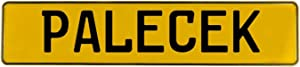 Vintage Parts 739293 Wall Art (Palecek Yellow Stamped Aluminum Street Sign Mancave), 1 Pack