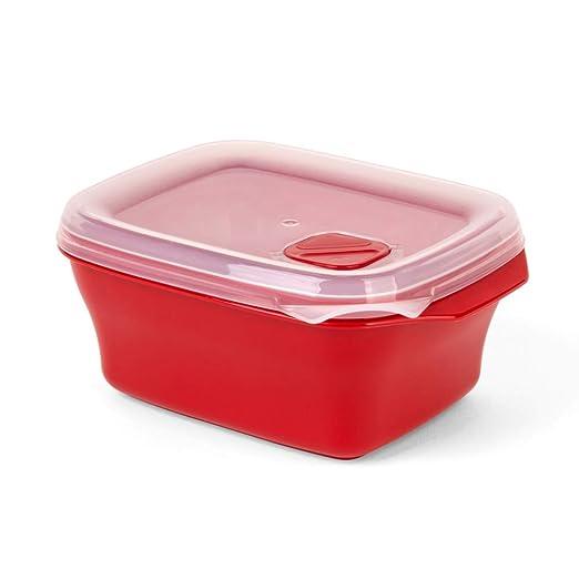 Recipiente para microondas con tapa, 0,7 L: Amazon.es: Hogar