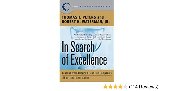 Amazon in search of excellence lessons from americas best amazon in search of excellence lessons from americas best run companies collins business essentials ebook thomas j peters robert h waterman publicscrutiny