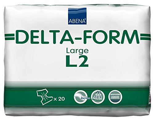 NRS Healthcare Abena Delta Form All-in-One Incontinence Pads - L2 Large (Eligible for VAT relief in the UK) by NRS Healthcare