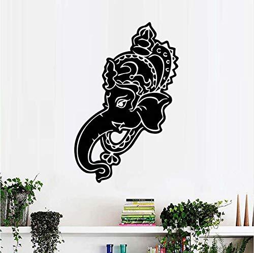 PAWANG Ganesha Lord Wall Decals n Elephant Yoga Gym Wall ...