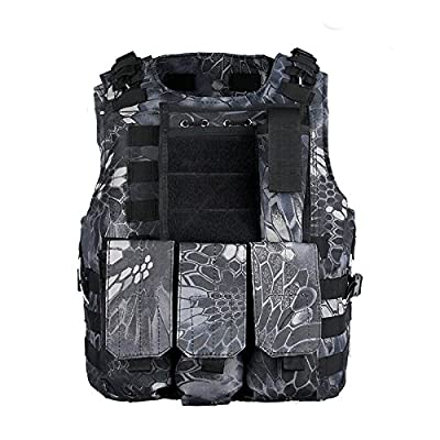 DLP Tactical Marinus Cable Releasable MOLLE Vest with Three Pouches