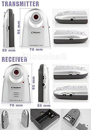 discoball® Alarma de seguridad de carretera barrera de infrarrojos seguridad en el hogar puerta ventana entrada Sensor de movimiento de vigilancia de ...